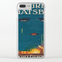 The Great Gatsby vintage book cover - Fitzgerald - muted tones Clear iPhone Case