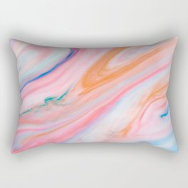 Rainbow Marble Agate Rectangular Pillow