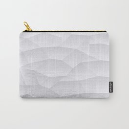 White Geometric Shapes Carry-All Pouch