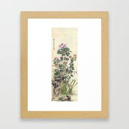 Yamamoto Baiitsu Autumn Flowers Framed Art Print
