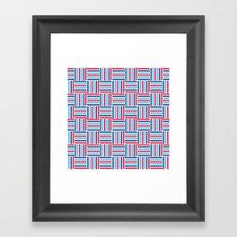 AFE Abstract Basket Weave Framed Art Print