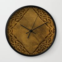 book cover Wall Clocks featuring Vintage Ornamental Book Cover by Nicolas Raymond