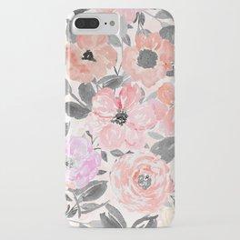 Elegant simple watercolor floral iPhone Case