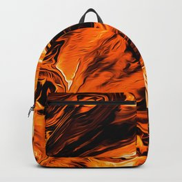 Abstract Gold Fire Paint IV Backpack