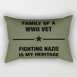 WWII Family Heritage Rectangular Pillow