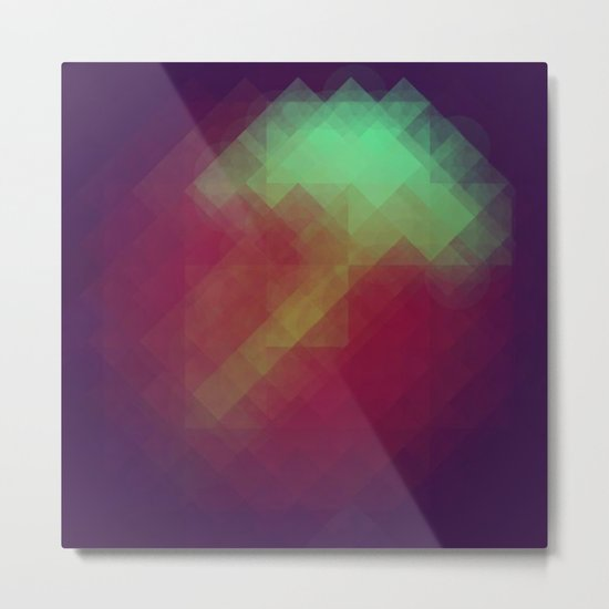 Jelly Pixel Metal Print