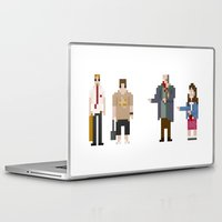 shaun of the dead Laptop & iPad Skins featuring 8-bit Shaun of The Dead by MrHellstorm