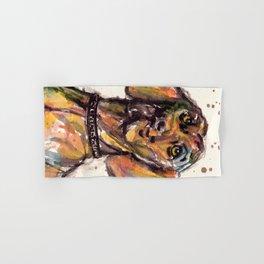 Hungarian Vizsla Dog Closeup Hand & Bath Towel