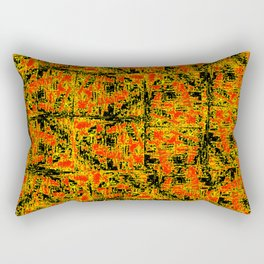 Golden Red Rectangular Pillow