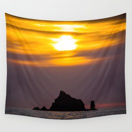 Island Sunset Wall Tapestry