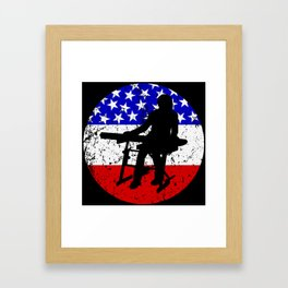 American Flag Keyboard Framed Art Print
