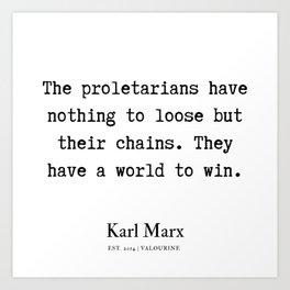 12 | Karl Marx Quotes | 190817 Art Print