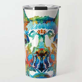 Colorful Llama Art - The Prince - By Sharon Cummings Travel Mug