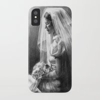 bride iPhone & iPod Cases featuring Bride by Hugo F G