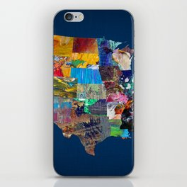 USA Map iPhone Skin