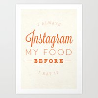 instagram Art Prints featuring Instagram by PaulWorm