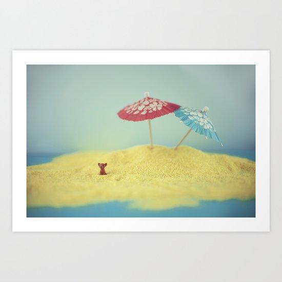 Doggy island Art Print