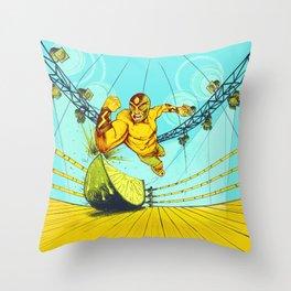 Luchador Lime Throw Pillow