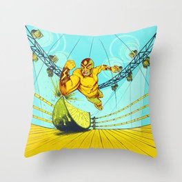 Luchador Lime Throw Pillow