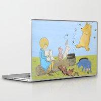 winnie the pooh Laptop & iPad Skins featuring Winnie the Pooh by Marilyn Rose Ortega