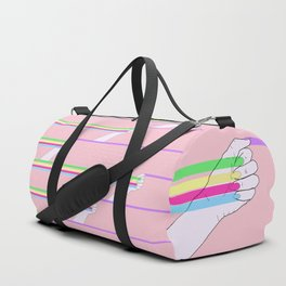 Feminist power pattern Duffle Bag