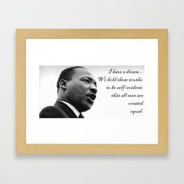 All are Created Equal Framed Art Print