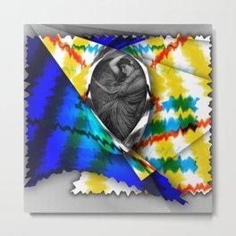 Woman in the Wind Metal Print