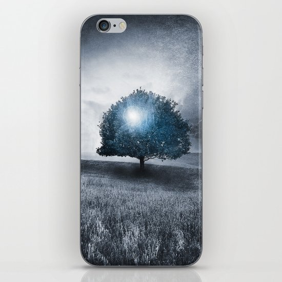 Energy from the blue tree iPhone & iPod Skin