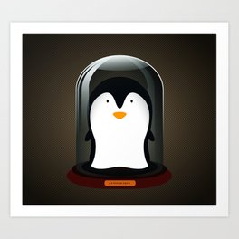 Pickled Penguin Art Print