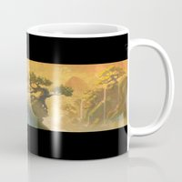 meditation Mugs featuring Meditation  by Michael Jared DiMotta Illustrations