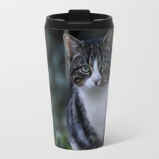 Green eyes cat Travel Mug