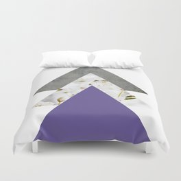 Ultra Violet Blossoms Arrows Duvet Cover