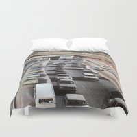 cars Duvet Covers featuring cars by danielrcart