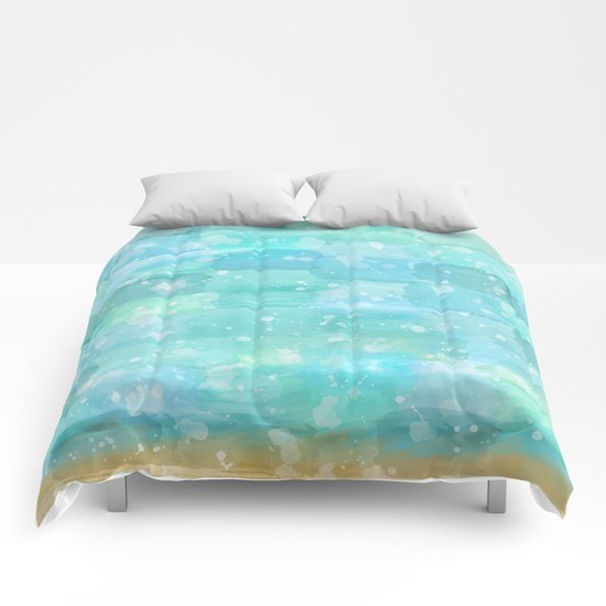 50 shades of Turquoise Comforters