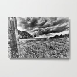 Fenced Metal Print