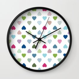 AFE Colorful Hearts Wall Clock