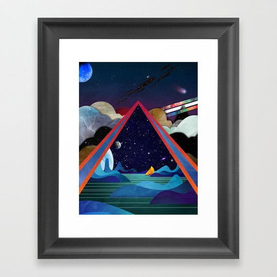 Frozen Oceans Framed Art Print