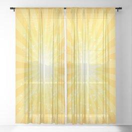 SUMMER SUNBURST Sheer Curtain