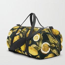 Lemon and Leaf Pattern V Duffle Bag