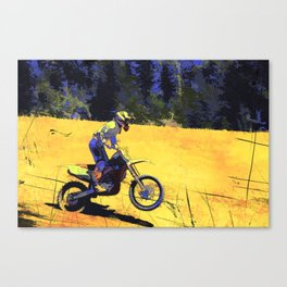 Riding Hard - Moto-x Champion Canvas Print