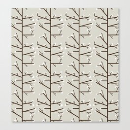 Spring is just around the corner - Fabric pattern Canvas Print