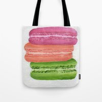 macaroons Tote Bags featuring Macaroons by Nicole Malcolm