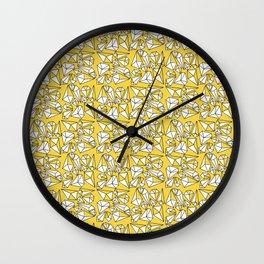 Shine Bright Like A Diamond | Yellow Wall Clock