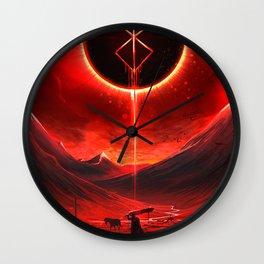 Berserk Demon Mark Moon Wall Clock