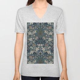 "William Morris ""Hyacinth"" 3. Unisex V-Neck"