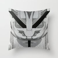 givenchy Throw Pillows featuring Givenchy tribal design by cvrcak