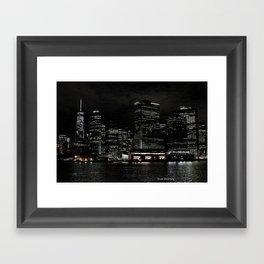 NYC Night Skyline 2015 Framed Art Print