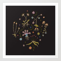 Flora of Planet Hinterland Art Print