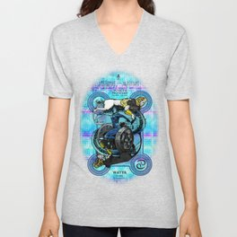 """Ars Tarot of the 12 Zodiac: """"Cancer - The Chariot"""" Unisex V-Neck"""