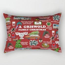 Christmas Vacation Collage Rectangular Pillow